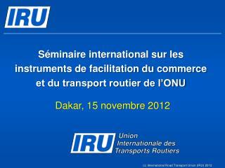 Dakar, 15 novembre 2012