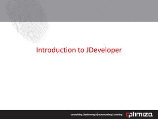 Introduction to  JDeveloper