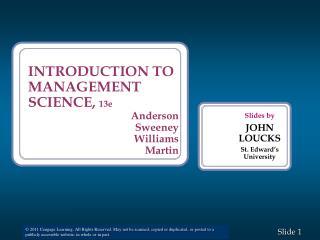 Slides by JOHN LOUCKS St. Edward�s University