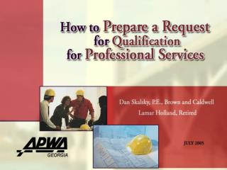 How to Prepare a Request for Qualification for Professional Services