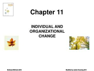INDIVIDUAL AND ORGANIZATIONAL CHANGE
