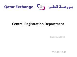 Central Registration Department