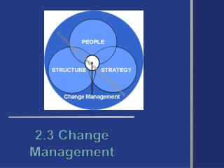 2.3 Change Management