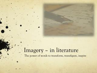 Imagery � in literature