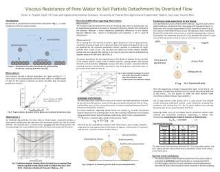 Viscous Resistance of Pore  W ater to Soil  P article  D etachment by Overland  F low