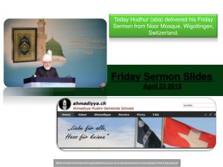Friday Sermon Slides  April 23 2010