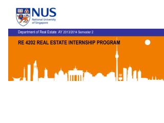 RE 4202 REAL ESTATE INTERNSHIP PROGRAM