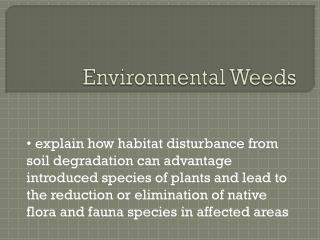 Environmental Weeds