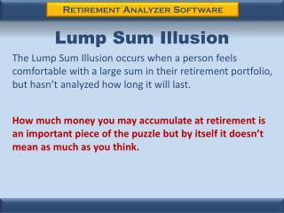 Lump Sum Illusion