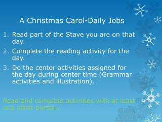 A Christmas  Carol-Daily Jobs
