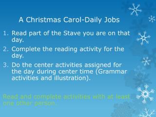 A Christmas  Carol-Daily Jobs