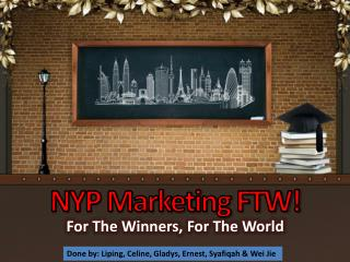 NYP Marketing FTW!