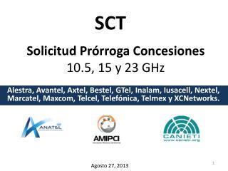 Solicitud Prórroga Concesiones  10.5, 15 y 23 GHz
