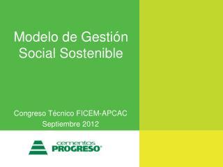 Modelo de Gestión Social Sostenible