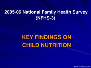 2005-06 National Family Health Survey NFHS-3