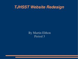 TJHSST Website Redesign