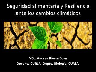 Seguridad alimentaria y  Resiliencia  ante los cambios climáticos