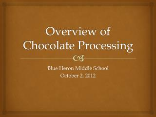 Overview of Chocolate Processing