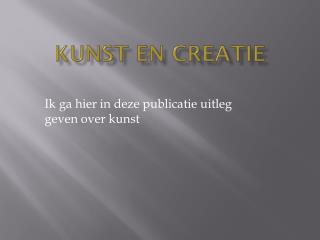 Kunst en creatie