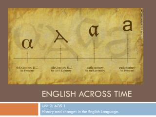 English across time