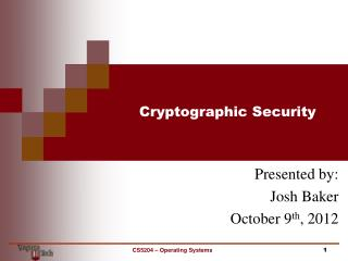 Cryptographic Security