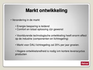 Markt ontwikkeling