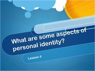 What are some aspects of personal identity?