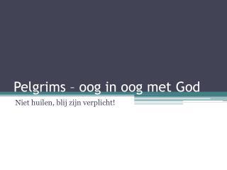 Pelgrims  –  oog  in  oog  met God