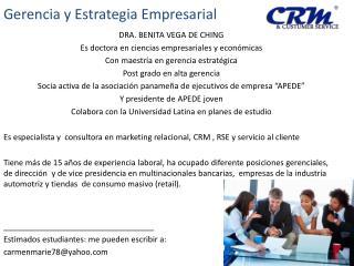 Gerencia y Estrategia Empresarial