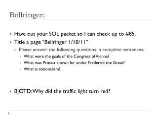 Bellringer :