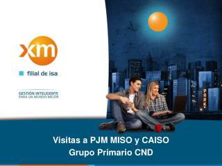Visitas a  PJM  MISO y  CAISO Grupo Primario CND