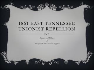1861 East Tennessee Unionist Rebellion