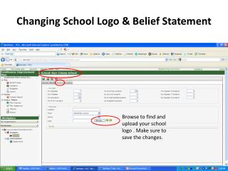 Changing School Logo & Belief Statement