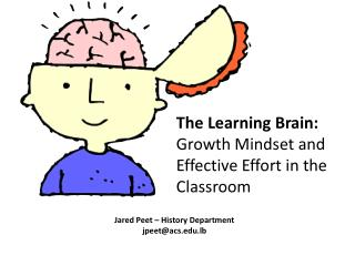 The Learning  Brain:  Growth  Mindset and Effective Effort in the Classroom