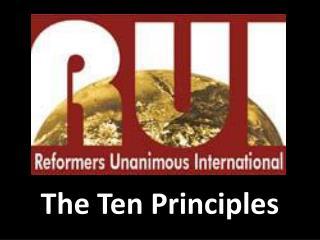 The Ten Principles