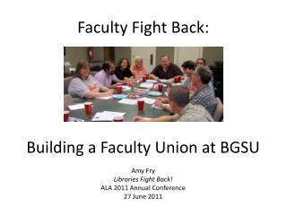 Faculty Fight Back: