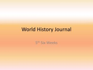 World History Journal