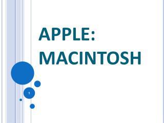 APPLE: MACINTOSH
