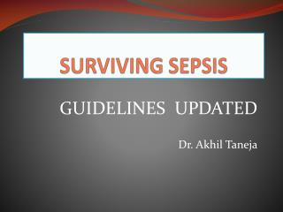 SURVIVING SEPSIS