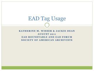 EAD Tag Usage