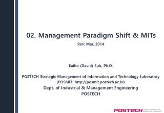 02. Management Paradigm Shift & MITs