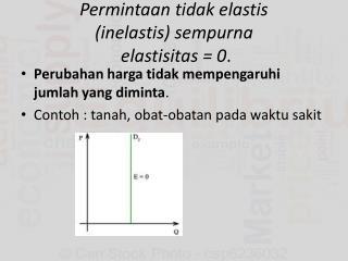 Permintaan tidak elastis (inelastis) sempurna elastisitas  = 0 .