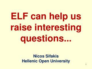 Nicos  Sifakis Hellenic Open University