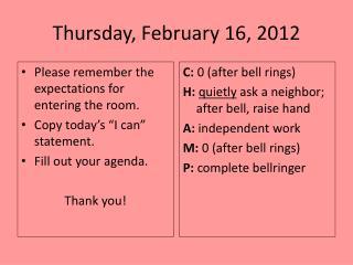 Thursday, February 16, 2012