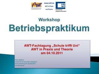 Workshop Betriebspraktikum