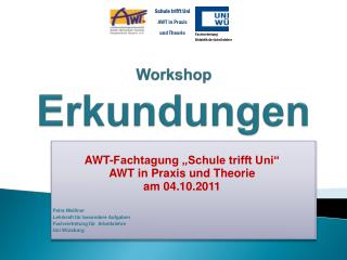 Workshop Erkundungen