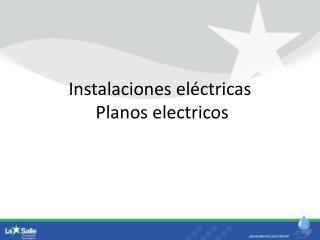 Instalaciones eléctricas  Planos  electricos