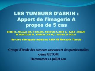 Service d'imagerie médicale CHU FB Monastir Tunisie