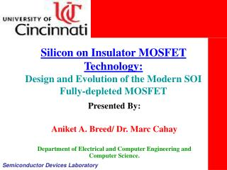 Silicon on Insulator MOSFET Technology: