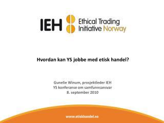 Hvordan kan YS jobbe med etisk handel?